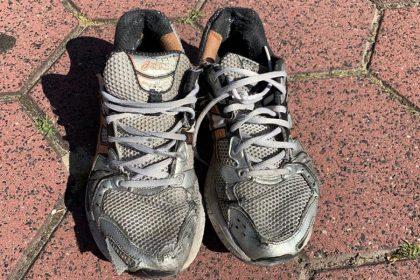 oude hardloopschoenen